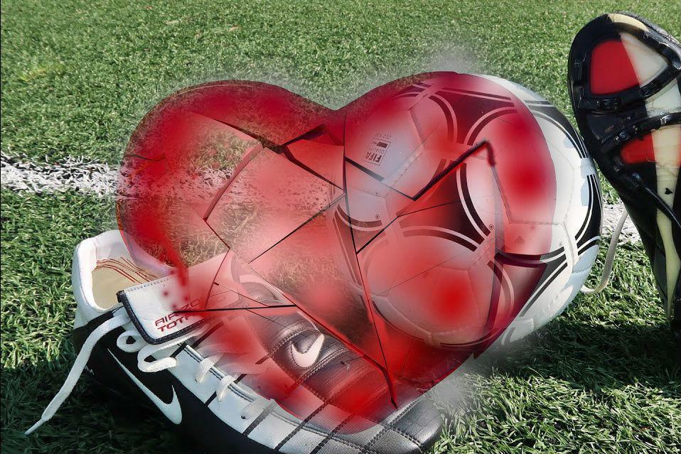 Сердце футболиста часто не выдерживает нагрузки