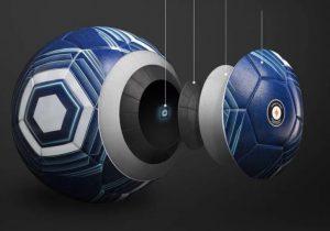 мяч в разрезе