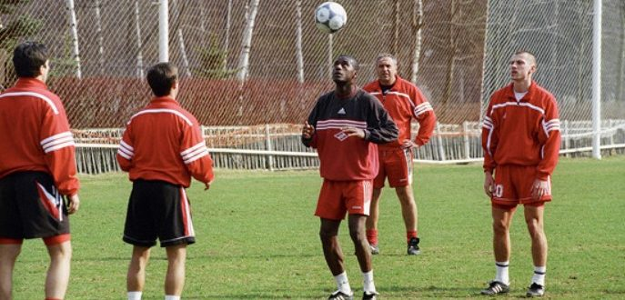 тренировка футболистов