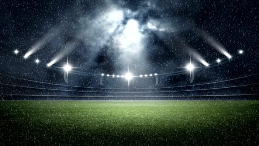 Пустое футбольное поле