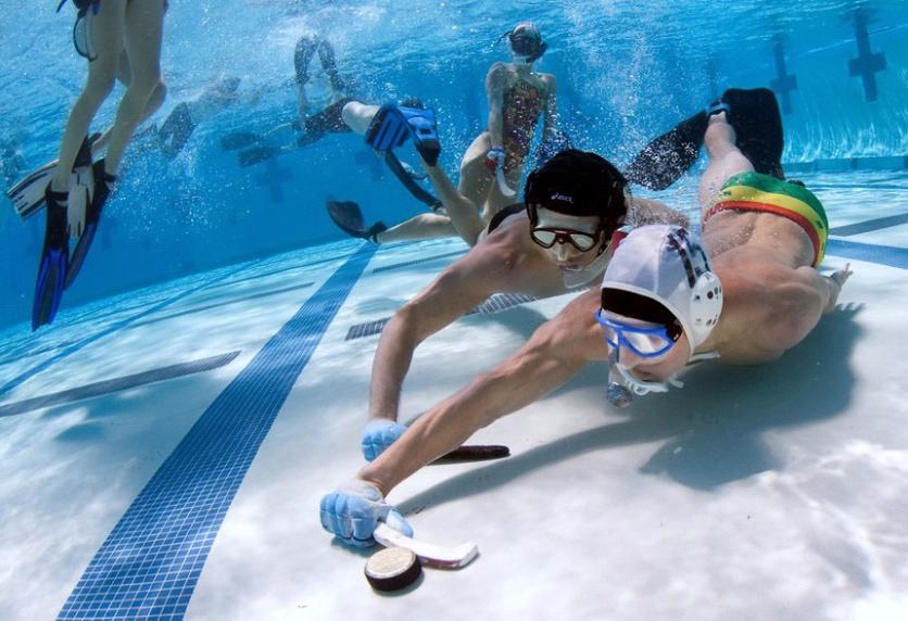Подводный хоккей.