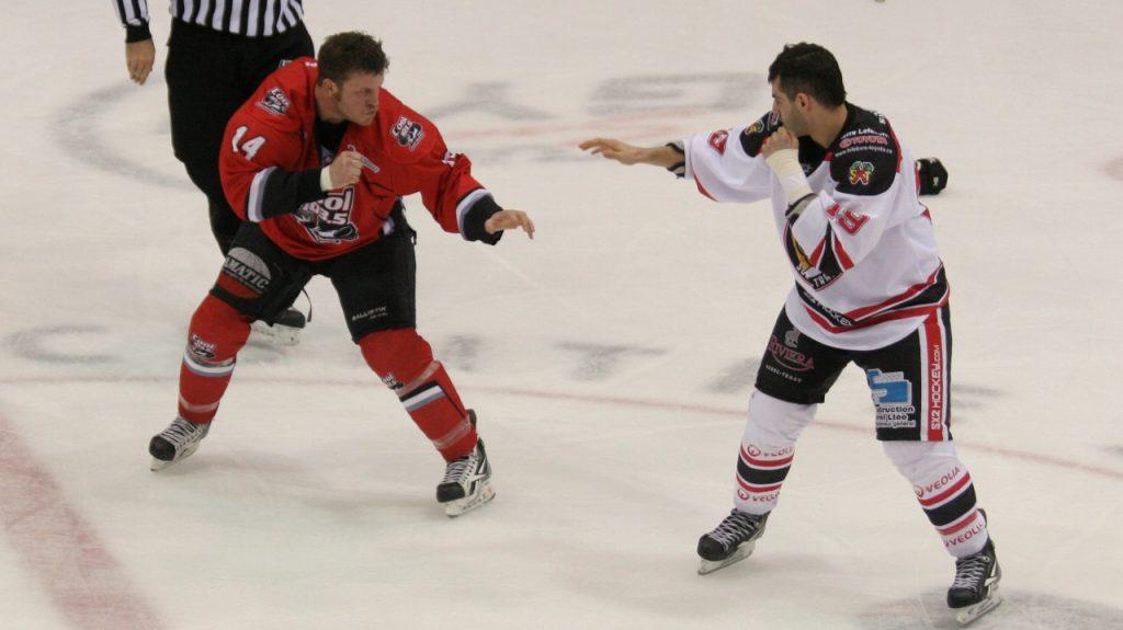 Провокация драки в хоккее.