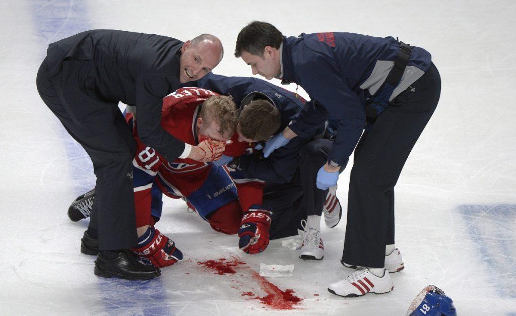 Серьёзные травмы в хоккее.