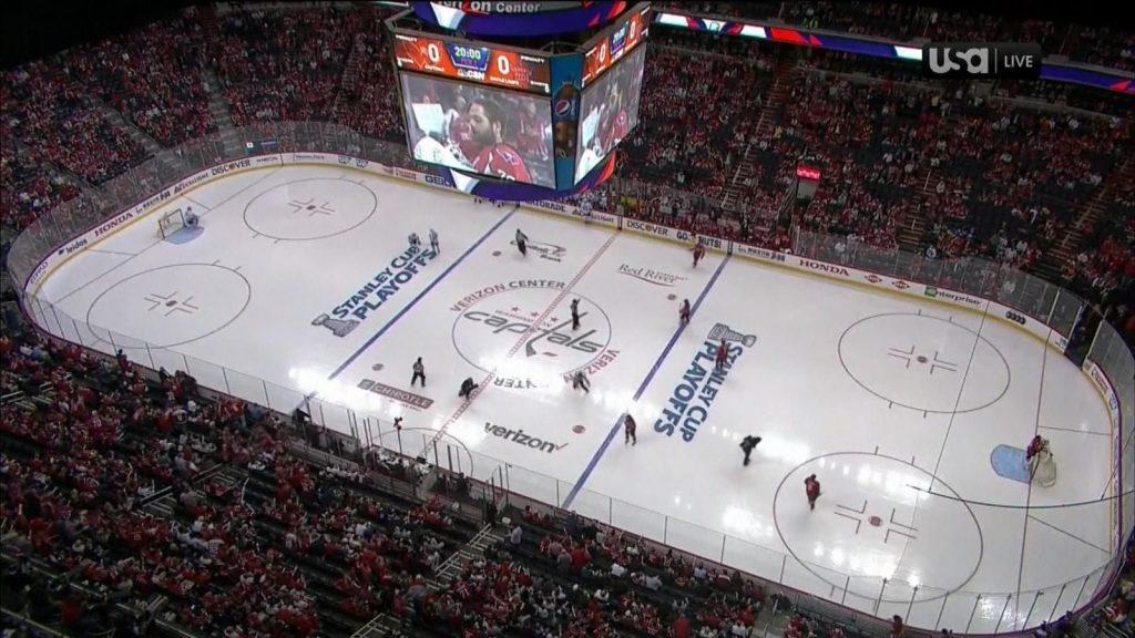 Хоккейная площадка НХЛ.