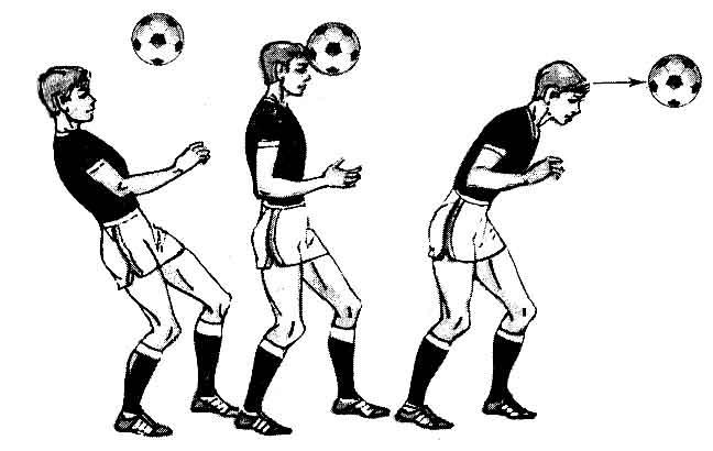 Ведение мяча головой.
