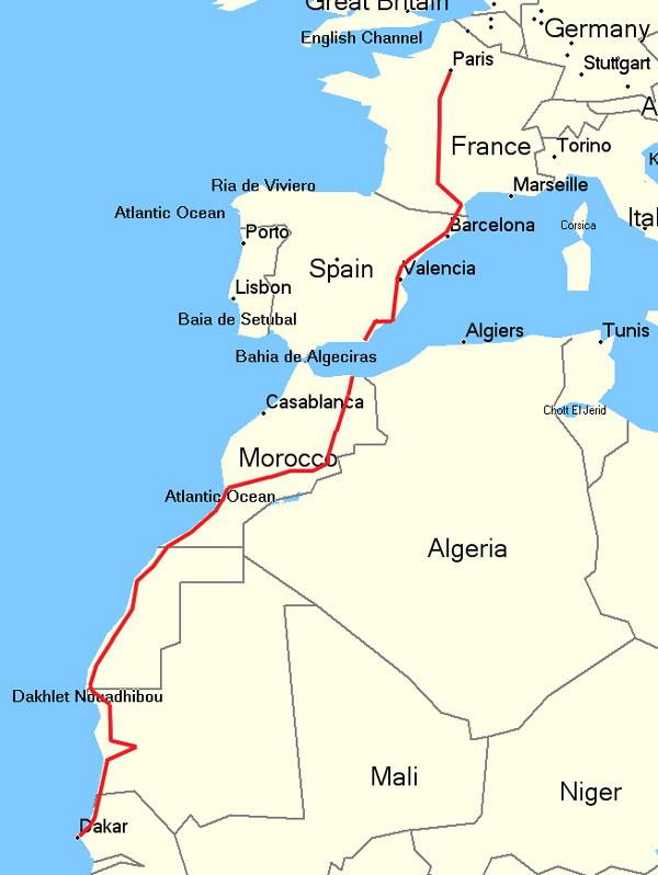 Карта маршрута.