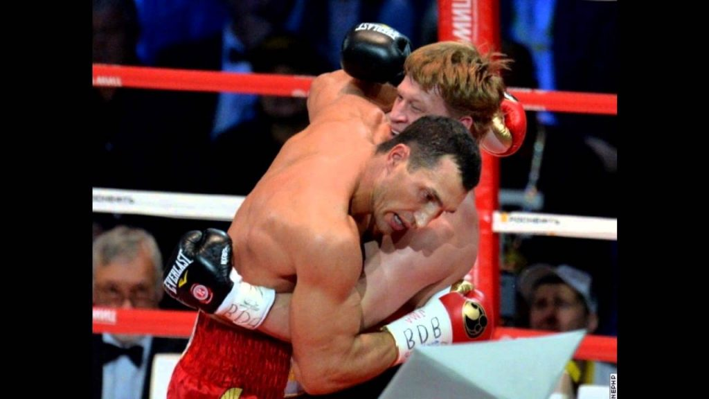 Клинч в боксе.