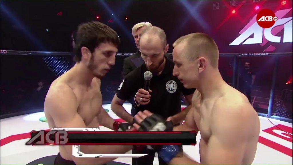 Петр Ян в финале ACB со своим противником – Мурадом Кадамовым