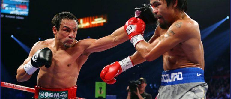 2-й бой Пакьяо против Хуана Мануэля Маркеса 15.03.2008 года. Победа Пакьяо раздельным решением судей