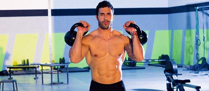 Массивные плечи! Понадобятся гиря 16 кг и 21 тренировка по 20 минут