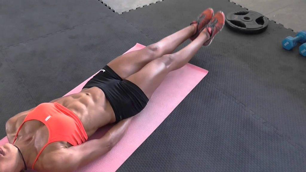 """Упражнение """"Художник"""" (60 секунд) от жирового валика внизу живота"""