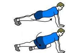Как сделать тонкую талию - упражнение с упором на руки