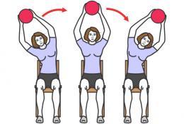 Как сделать тонкую талию - упражнение сидя